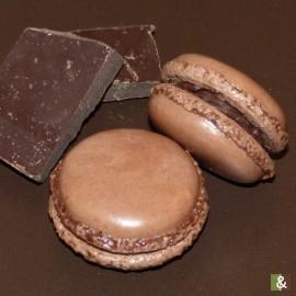 Chocolat Noir - Boite de 12 macarons