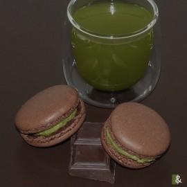 Chocolat & Matcha - Boite de 12 macarons